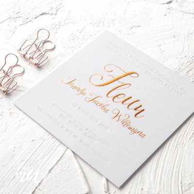 Letterpress geboortekaartje Fleur