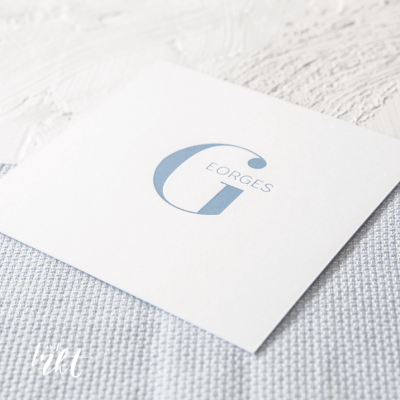 Letterpress geboortekaartje met mooie letter