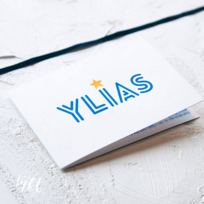 Letterpress geboortekaartje typografie