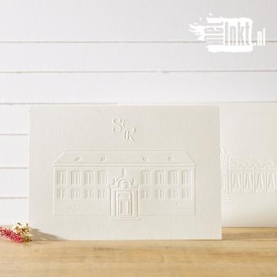Letterpress trouwkaart Librije