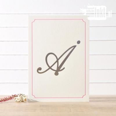 Letterpress trouwkaart foliedruk