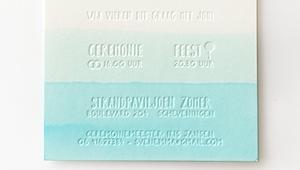 Aquarel letterpress